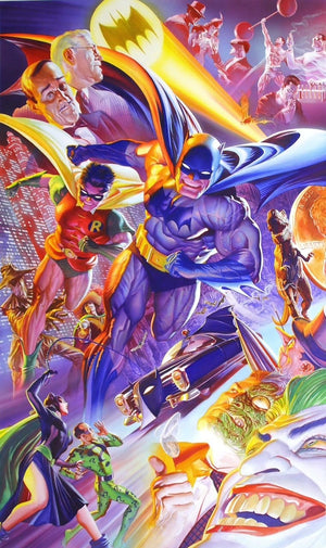 The Dynamic Duo (Batman & Robin) face off against the city's villains.