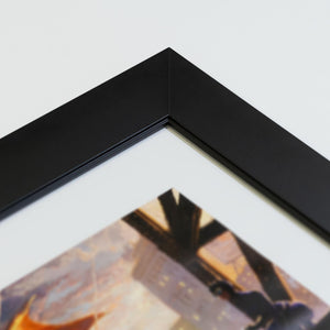 Satin Black - Corner Frame Sample