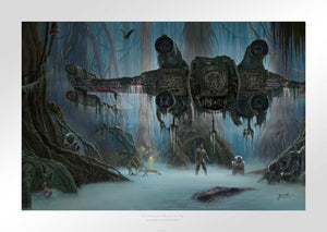 Unframed - PaperFeatures Luke Skywalker and Yoda in Dagobah a swamp-covered planet  -