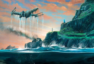 Luke's starfighter which is below the water. Artwork inspired by Star Wars: Return of the Jedi Canvas