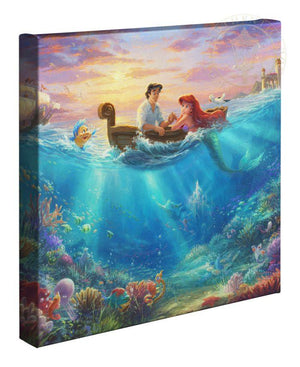 Ariel's best friend, Flounder, nervously circles the boat hoping that Prince Eric will go on and kiss the girl.