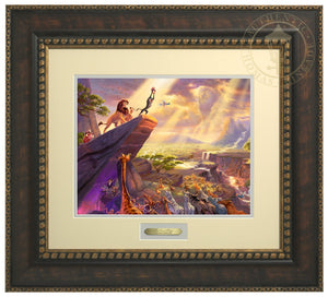Rafiki pays tribute to Simba the future King of the land - Bronze Gold Frame