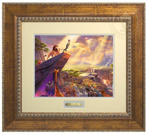 Rafiki pays tribute to Simba the future King of the land - Antiqued Gold Frame