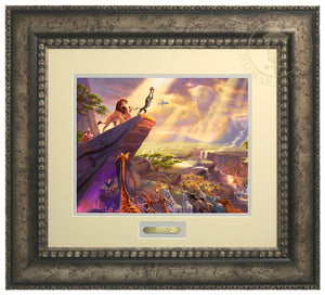 Rafiki pays tribute to Simba the future King of the land - Antiqued Silver Frame