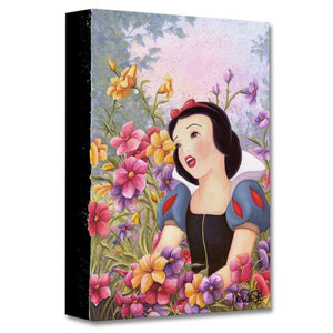 Love In Full Blossom by Michelle St. Laurent.  The beautiful Snow White singing her love songs in the garden of flowers.