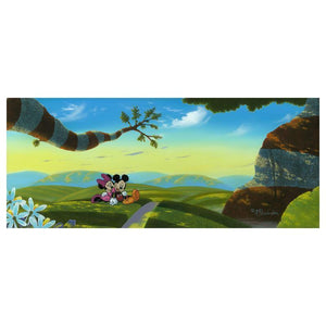 Lovin A New World by Michael Provenza.  Mickey and Minnie have discovered a whole new outdoor world together..