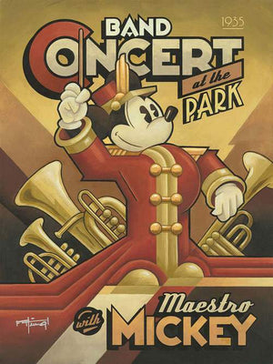 Poster Banner: Mickey the Maestro is hosting a Concert at the park.