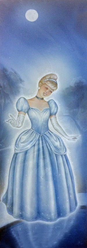 Cinderella in her lovely and magical gown.