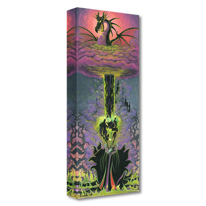 Maleficent's Transformation - Disney Treasures On Canvas