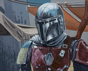 Mando by Luke McMullan  Star Wars: The Mandalorian interpretive artwork