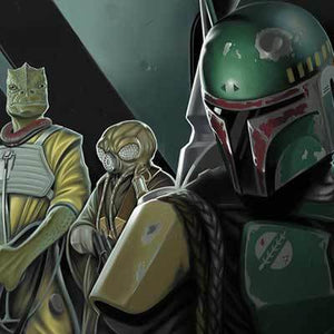 Boba Fett gives his marching orders - Closeup