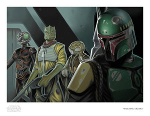 Boba Fett gives his marching orders - Paper
