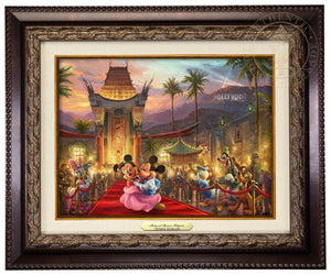 Mickey and Minnie walk the red carpet - Aged Bronze Frame