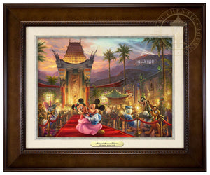 Mickey and Minnie walk the red carpet - Espresso Frame