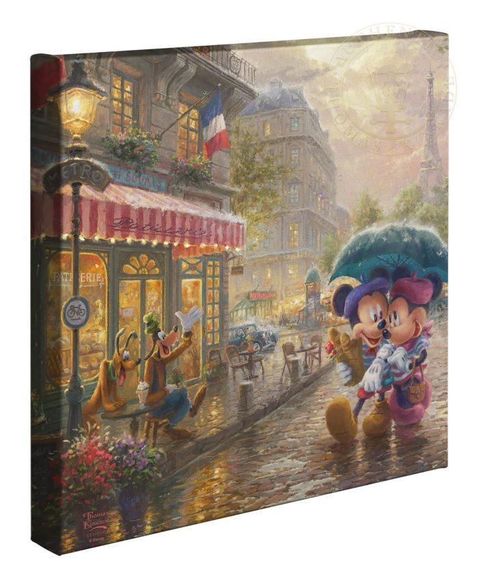 Mickey and Minnie in Paris - Gallery Wrap Canvas