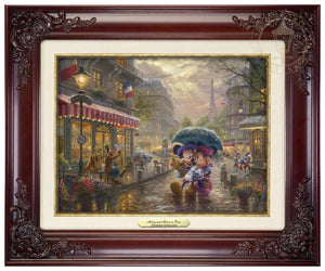 Mickey and Minnie in Paris - Classic Brandy Frame