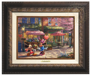 Mickey and Minnie Sweetheart Cafe - Canvas Classics