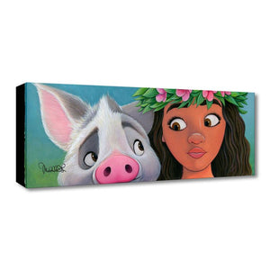Moana, is featured when her new found friend, a cuddly sweet pig named Pua.