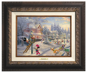 Mickey and all his friends preparing for their favorite time of the year. Aged Bronze Frame