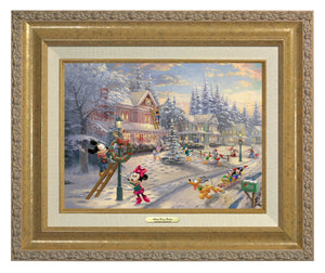 Mickey and all his friends preparing for their favorite time of the year. Antiqie Gold  Frame