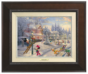Mickey and all his friends preparing for their favorite time of the year. Espresso  Frame