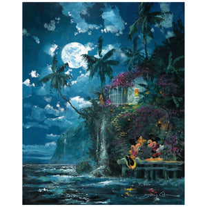 Night Fishin in Paradise by James Coleman  Minnie is impressed with Mickey's catch.