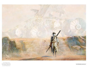 Star Wars: The Force Awakens inspired print featuring Rey on Jakku - Paper