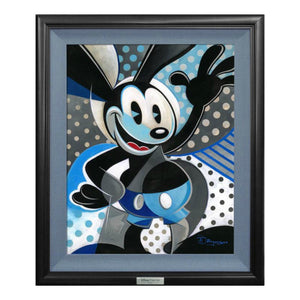 Oswald the Lucky Rabbit by Tim Rogerson   The happy go lucky rabbit, stops and waves.