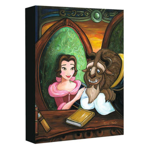 Our Story by Paige O'Hara.  Belle presents the Beast with a book she has written about their romance story.