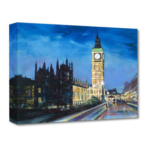 Painting the Town by Stephen Fishwick.  Mickey sit in front of his easle in front of London's famous clock tower.