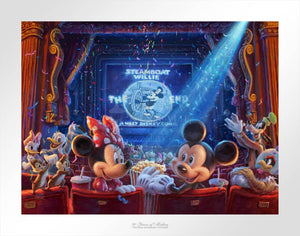 Mickey, Minnie, and friends are celebrating 90 years of memories at the movie theater - unframed paper