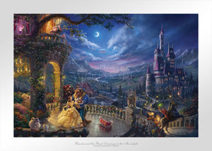 Beauty and the Beast Dancing in the Moonlight - Limited Edition Paper