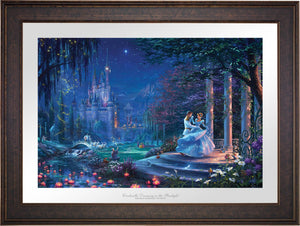 Cinderella's dreams have come true under the starlight Cinderella is in the arms of her prince - Gallery Bronze Frame