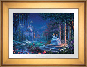 Cinderella's dreams have come true under the starlight Cinderella is in the arms of her prince - Gallery Gold Frame