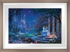 Cinderella's dreams have come true under the starlight Cinderella is in the arms of her prince - Space Gray Frame