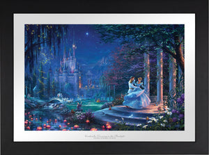 Cinderella's dreams have come true under the starlight Cinderella is in the arms of her prince - Satin Black Frameme