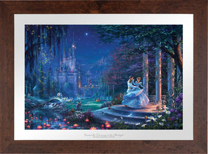 Cinderella's dreams have come true under the starlight Cinderella is in the arms of her prince - Wildwood Frame