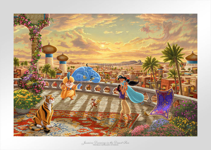 Jasmine Dancing in the Desert Sunset - Limited Edition Paper