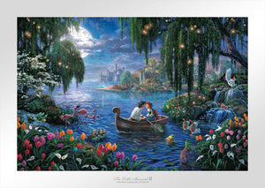 Prince Eric and Ariel fall in love in the lagoon. - Unframed Paper