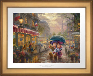 Mickey and Minnie in Paris - Limited Edition Paper