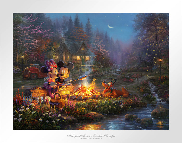 Mickey and Minnie - Sweetheart Campfire - Limited Edition Paper