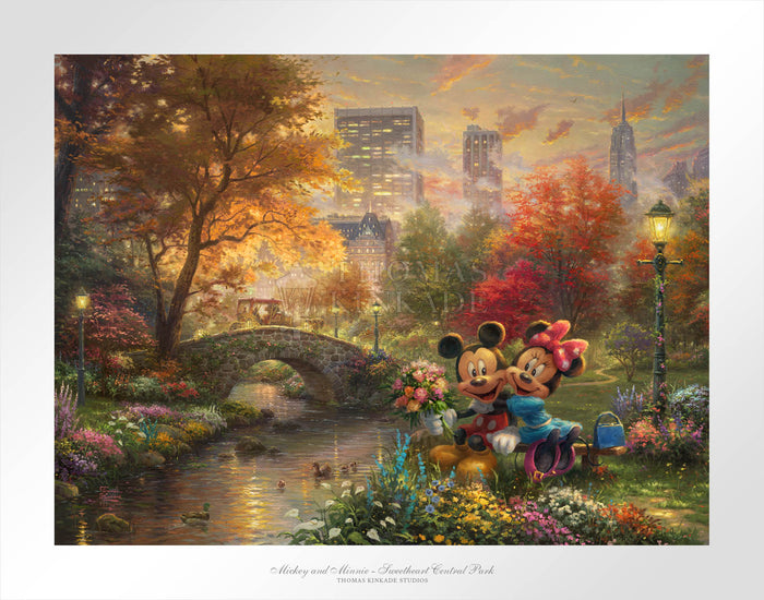 Mickey and Minnie  - Sweetheart Central Park - Limited Edition Paper