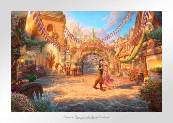 Rapunzel Dancing in the Sunlit Courtyard - Limited Edition Paper