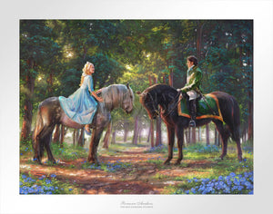 "Cinderella-Ella meets ""The Prince"" for the first time. The two happen to meet in the forest as The Prince is on a stag hunt, and Ella is on a ride of her own."