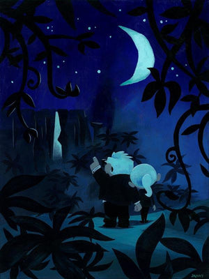 Carl and Ellie take a stroll under the light of the moon