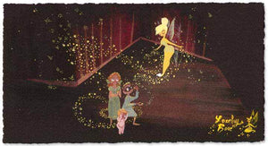 Pixie Dust by Lorelay Bove.  Tinker Bell spreading her magical pixie dust on Wendy, John and Michael.