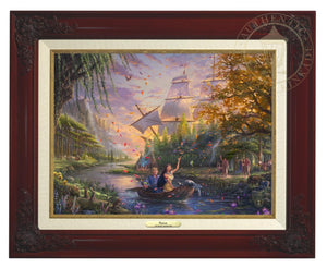 Pocahontas's friends, the raccoon Meeko and hummingbird Flit, keep a careful watch over her as she and John Smith travels downstream - Brandy Frame
