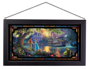 The Princess and the Frog - Framed Glass Art