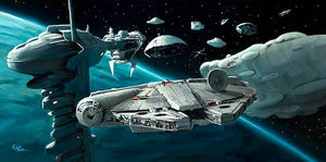 The Millennium Falcon among the rebels.