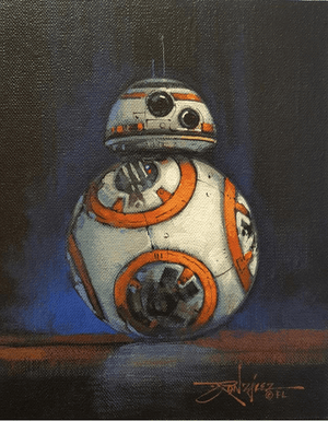 A beautiful portrait of BB-8, the Rebel Alliance's astromesh.